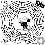 Παιχνίδι λαβυρίνθου για τα κατσίκια Στοκ Φωτογραφία