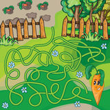 Παιχνίδι λαβυρίνθου για τα κατσίκια Στοκ φωτογραφία με δικαίωμα ελεύθερης χρήσης
