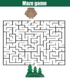 Παιχνίδι λαβυρίνθου: θέμα ζώων απεικόνιση αποθεμάτων