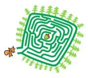 Παιχνίδι λαβυρίνθου σκιούρων και καρυδιών Στοκ φωτογραφία με δικαίωμα ελεύθερης χρήσης