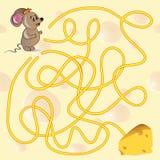 Παιχνίδι λαβυρίνθου του χαριτωμένου ποντικιού Στοκ Εικόνες