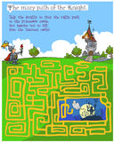 Παιχνίδι λαβυρίνθου των παιδιών παραμυθιού Στοκ Εικόνα