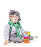 Παιχνίδι αγοριών μικρών παιδιών Στοκ εικόνες με δικαίωμα ελεύθερης χρήσης