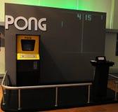 Παιχνίδι αθλητικού Arcade επιτραπέζιας αντισφαίρισης, αναδρομική ψυχαγωγία, εκλεκτής ποιότητας αντικείμενο Στοκ φωτογραφία με δικαίωμα ελεύθερης χρήσης