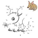 Παιχνίδι αριθμών, Aardvark διανυσματική απεικόνιση