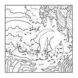Παιχνίδι αριθμών (anteater) διανυσματική απεικόνιση