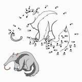 Παιχνίδι αριθμών (anteater) ελεύθερη απεικόνιση δικαιώματος