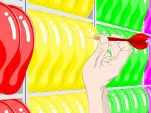 Παιχνίδι βελών μπαλονιών Στοκ φωτογραφίες με δικαίωμα ελεύθερης χρήσης