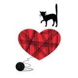 παιχνίδι γατακιών σφαιρών Στοκ Φωτογραφίες