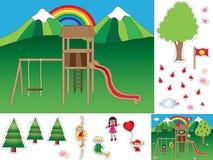 Παιχνίδι για τα παιδιά ελεύθερη απεικόνιση δικαιώματος