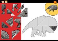 Παιχνίδι γρίφων τορνευτικών πριονιών κινούμενων σχεδίων anteater απεικόνιση αποθεμάτων