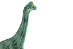 Παιχνίδι δεινοσαύρων Apatosaurus που απομονώνεται στο λευκό Στοκ Φωτογραφίες