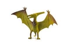 Παιχνίδι δεινοσαύρων Pterosaur που απομονώνεται στο λευκό Στοκ Εικόνες