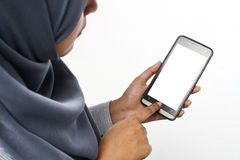 Παιχνίδι εφήβων με το τηλέφωνο Στοκ Εικόνες
