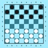 Παιχνίδι ελεγκτών, μπλε πίνακας Στοκ φωτογραφία με δικαίωμα ελεύθερης χρήσης