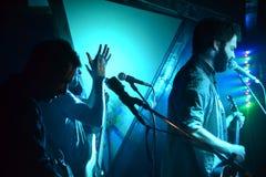 Παιχνίδι ζωνών σε μια συναυλία στοκ εικόνες με δικαίωμα ελεύθερης χρήσης