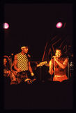 Παιχνίδι ζωνών Shalamar ζωντανό στο βρετανικό στα τέλη του 1970 s αρχές δεκαετίας του '80 Στοκ φωτογραφία με δικαίωμα ελεύθερης χρήσης