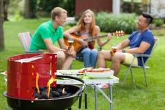 παιχνίδι κιθάρων κοριτσιών Στοκ εικόνα με δικαίωμα ελεύθερης χρήσης