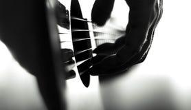 παιχνίδι κιθάρων Στοκ Φωτογραφίες