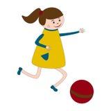 παιχνίδι κοριτσιών σφαιρών Στοκ φωτογραφία με δικαίωμα ελεύθερης χρήσης