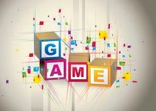 παιχνίδι κύβων κιβωτίων Στοκ Εικόνες
