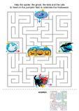 Παιχνίδι λαβυρίνθου αποκριών για τα κατσίκια Στοκ εικόνα με δικαίωμα ελεύθερης χρήσης