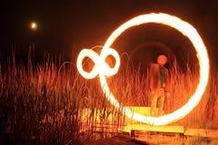 Παιχνίδι με τη φωτιά Στοκ Εικόνες