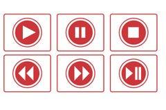 Παιχνίδι, μικρή διακοπή, στάση και άλλο κουμπί Στοκ Εικόνες