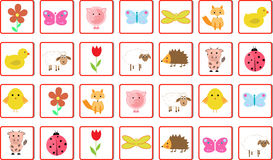 Παιχνίδι μνήμης Στοκ εικόνα με δικαίωμα ελεύθερης χρήσης