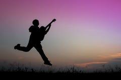 παιχνίδι μουσικών κιθάρων Στοκ Φωτογραφία