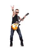 Παιχνίδι μουσικών στην ηλεκτρική κιθάρα Στοκ Εικόνα