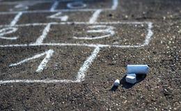 Παιχνίδι οδών Hopscotch Στοκ Φωτογραφία