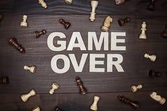 Παιχνίδι πέρα από την έννοια στο ξύλινο υπόβαθρο Στοκ φωτογραφία με δικαίωμα ελεύθερης χρήσης