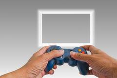 Παιχνίδι παιχνιδιού με ένα πηδάλιο Στοκ Εικόνες