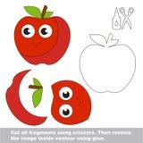 Παιχνίδι παιδιών εγγράφου Εύκολη εφαρμογή για τα παιδιά με τη Apple Στοκ Εικόνα