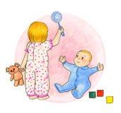 Παιχνίδι παιδιών Στοκ φωτογραφίες με δικαίωμα ελεύθερης χρήσης