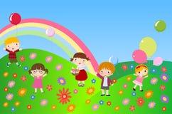 παιχνίδι παιδιών διανυσματική απεικόνιση