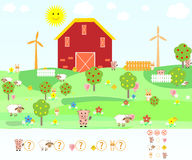 Παιχνίδι παιδιών ` s math Στοκ Εικόνες