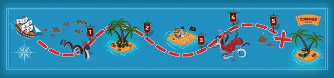 Παιχνίδι πειρατών στο ύφος κινούμενων σχεδίων Στοκ φωτογραφία με δικαίωμα ελεύθερης χρήσης