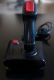 Παιχνίδι πηδαλίων arcade για τον υπολογιστή και κονσόλα από 80& x27 s Μαύρο γ Στοκ φωτογραφία με δικαίωμα ελεύθερης χρήσης