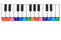 Παιχνίδι πιάνων χρώματος Στοκ Εικόνες