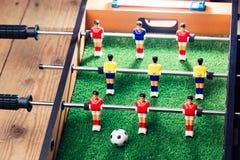 Παιχνίδι ποδοσφαίρου επιτραπέζιου ποδοσφαίρου Στοκ φωτογραφίες με δικαίωμα ελεύθερης χρήσης