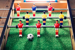 Παιχνίδι ποδοσφαίρου επιτραπέζιου ποδοσφαίρου Στοκ εικόνες με δικαίωμα ελεύθερης χρήσης