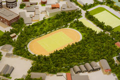 Παιχνίδι ποδοσφαίρου επιτραπέζιου ποδοσφαίρου foosball αφηρημένο φως Στοκ φωτογραφία με δικαίωμα ελεύθερης χρήσης