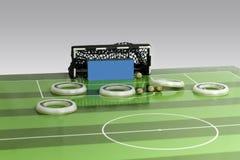 Παιχνίδι ποδοσφαίρου κουμπιών Στοκ φωτογραφίες με δικαίωμα ελεύθερης χρήσης