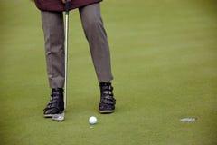 παιχνίδι προσώπων γκολφ Στοκ Φωτογραφία