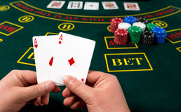 Παιχνίδι πόκερ κάρτες Στοκ Φωτογραφίες
