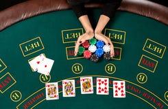 Παιχνίδι πόκερ τσιπ Στοκ εικόνες με δικαίωμα ελεύθερης χρήσης