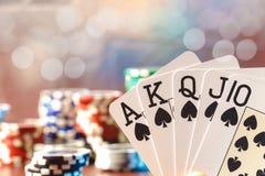 Παιχνίδι πόκερ Στοκ Εικόνες