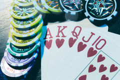 Παιχνίδι πόκερ Στοκ φωτογραφίες με δικαίωμα ελεύθερης χρήσης